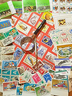 Album, Stamp, Collector, Collect, Magnifying Glass