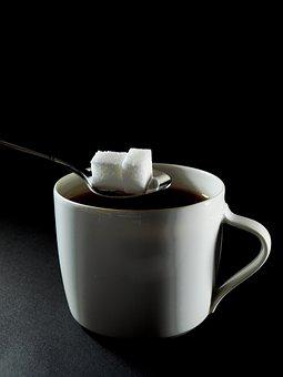 Coffee, Sugar, Sugar In Coffee, Coffee Cup, Cup