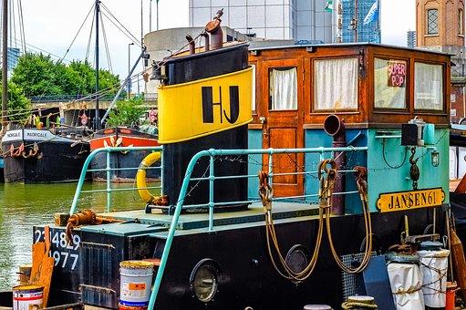 Barge, Houseboat, Boat, Ship, Rotterdam, Netherlands