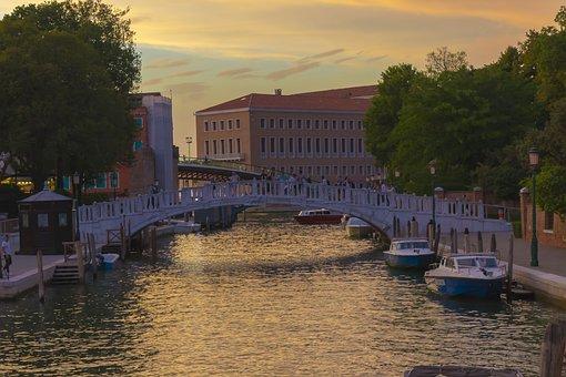 Venice, Italy, Italia, Architecture, Channel