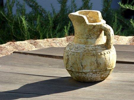 Jug, Clay, Pottery, Traditional, Handmade