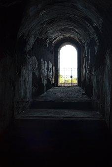 Door, Dark, Obscure, Output, Light, Old Door, Worrying