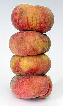 Peach, One Above The Other, Peach Tower, Stacked