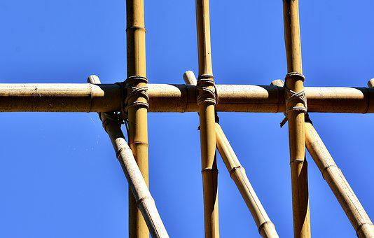 Bamboo, Rods, Knotted, Bamboo Rods, Natural Material