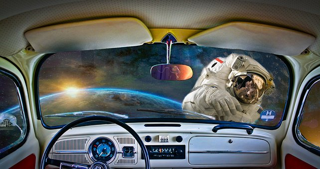 Eclipse, Space, Vw, Spaceman, Earth, Happy, Dash