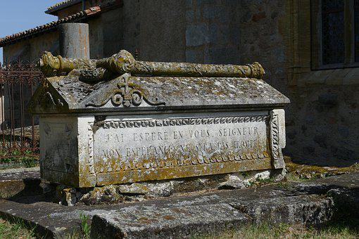 Grave, Coffin, Stone, Old, Antique, Weather-beaten