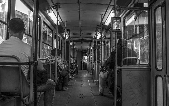 Tram, Belgrade, People, Gray, Inside, 2, Center, Serbia