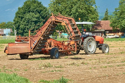 Agriculture, Tractor, Vehicle, Agricultural Machine