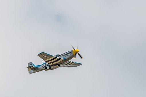 P-51d Mustang, Warbird, Aircraft, Fly, Flugshow