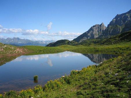 Campiglio, Mountain, Lake, Landscape, Summer