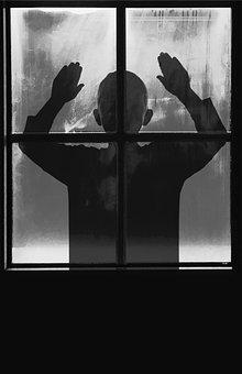 Child, Child At The Window, Window, Kid, Boy, Scary