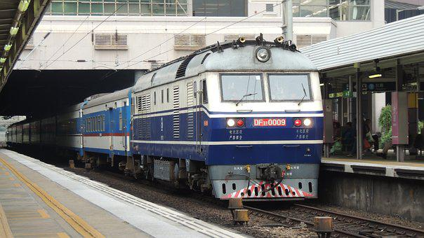 Hongkong, Train, City, Transportation, People, Asian