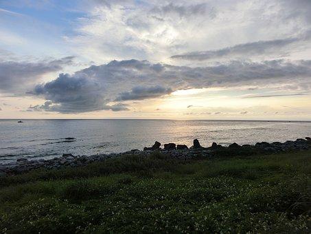 Taitung, Taiwan, Beach, No One, Sunset, Cloud, Day