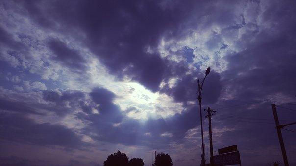 Cloud, Sky, In The Evening, Glow, Sunshine, Sea, Solar