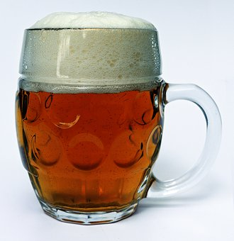 Beer Mug, Beer, Head, Glass Mug, Seidla, Half