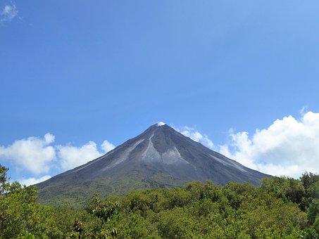 Central America, Costa Rica, Volcano, Landscape, Nature