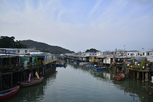 Hongkong, Tai O, Water, Tai, O, Island, Lantau