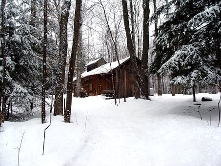 Sugar Shanty, Maple Syrup, Forest, Woods, Snow, Winter