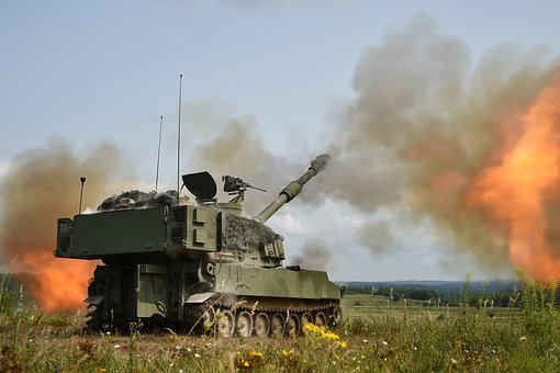 M109a6, Paladin, Howitzer, Artillery, Mobile, Attack