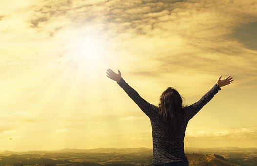 Sky, Asking God, Prayer, Open Arms, Praise, Hope, Peace