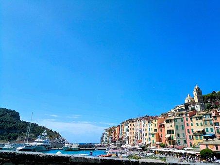 Portovenere, Colored Houses, Terrace, Sea, Boulevard