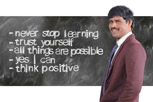 Successful, Think, Businessman, Board, Positive