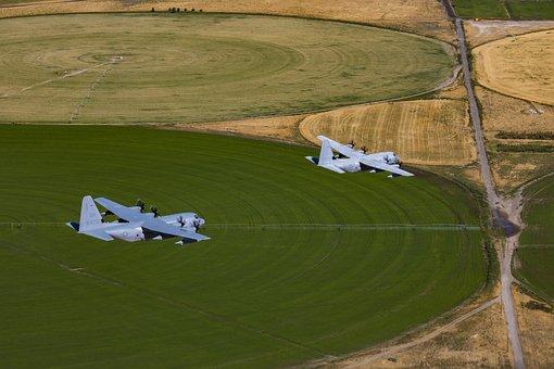 Kc-130j Hercules, Transport, Cargo, Aircraft, Aviation