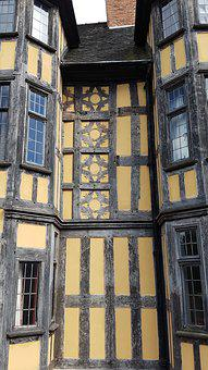Tudor, House, Architecture, Exterior, Medieval