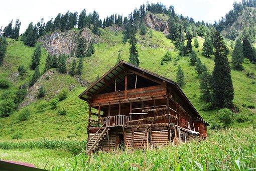 Sweet Wooden Home, Green, Kashmir, Pakistan