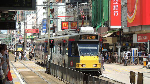 Hongkong, Railway, Tram, Hong, Kong, Asia, City, Urban