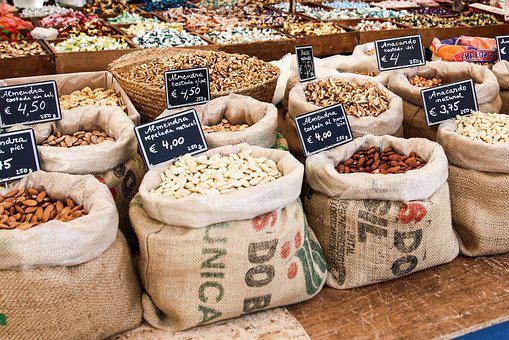 Market, Nuts, Sell, Food, Market Stall, Selection, Buy