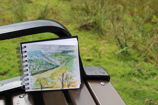 Sketch, Sketchbook, Plein Air, Paint, Painting, Art