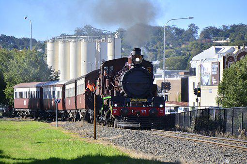 Toowoomba, Train, Steam, Australia, Railway, Rail, Old