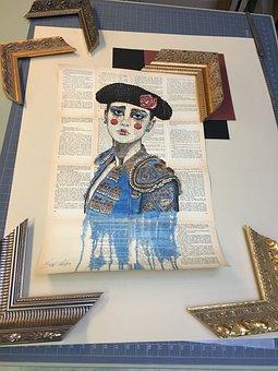 Art, Frame, Painting, Toreador, Colour