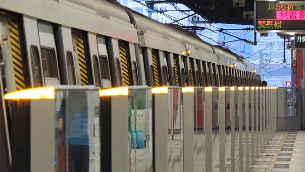 Hongkong, Mtr, Hong, Kong, City, Asian, Train, People