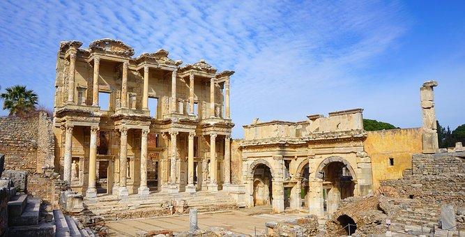 Celsus, Efes, Ephesus, Izmir, Architecture, Turkey