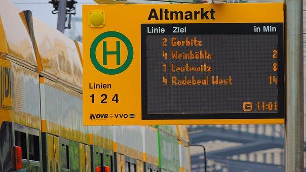 Dresden, Tram, Germany, City, European, Urban