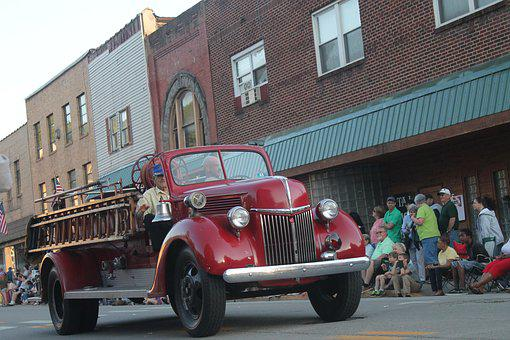 Parade, Vintage, American, Small Town