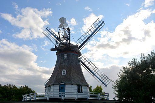 Technology, Windmill, Wedding Mill, Friedrichskoog, Sky