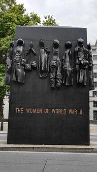 London, Monument, Women, 2nd World War, England