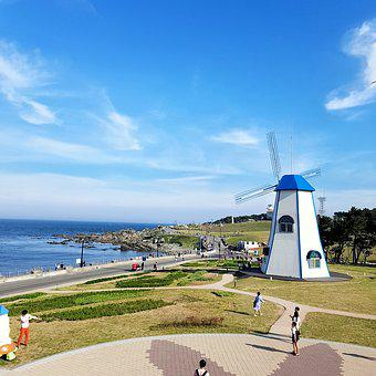 Ulsan, Between Cape Fear, Sky, Sea, Cloud, Windmill