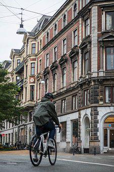 Bike, Copenhagen, Cold, Building, City, Bicycle, Street