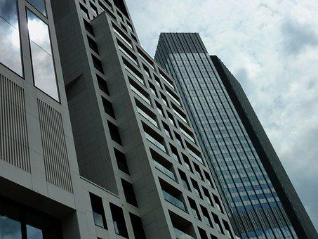 Skyscraper, Glass Facade, Building, Frankfurt