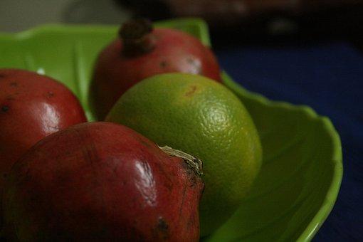 Fruit, Orange, Pomegranate, Citrus, Fresh, Healthy
