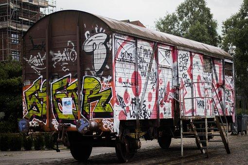 Graffiti, Copenhagen, Street, Art, Independent