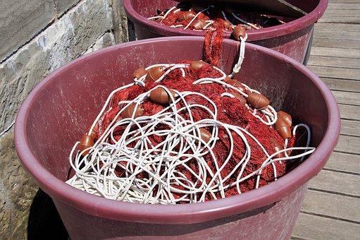 Fishing Net, Fishing Tool, Fishing, Network, Composed
