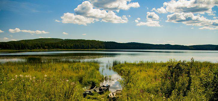 Lake, Arakul, Nature, Forest, Boat, Vacation, Russia