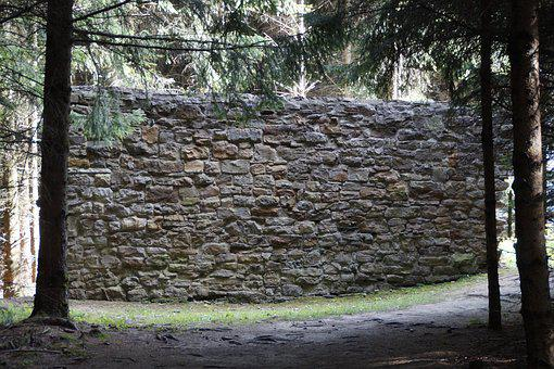 Limes, Devil's Wall, Wall, Fragment, Germany, Romans