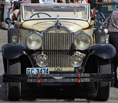 Vintage, Old, Open-top, Car, Motor, Spain