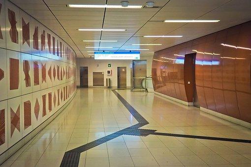 Architecture, Metro, Underground, Passengers, Stop